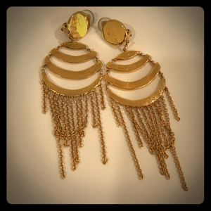 Cecile Jeanne gold tone earrings
